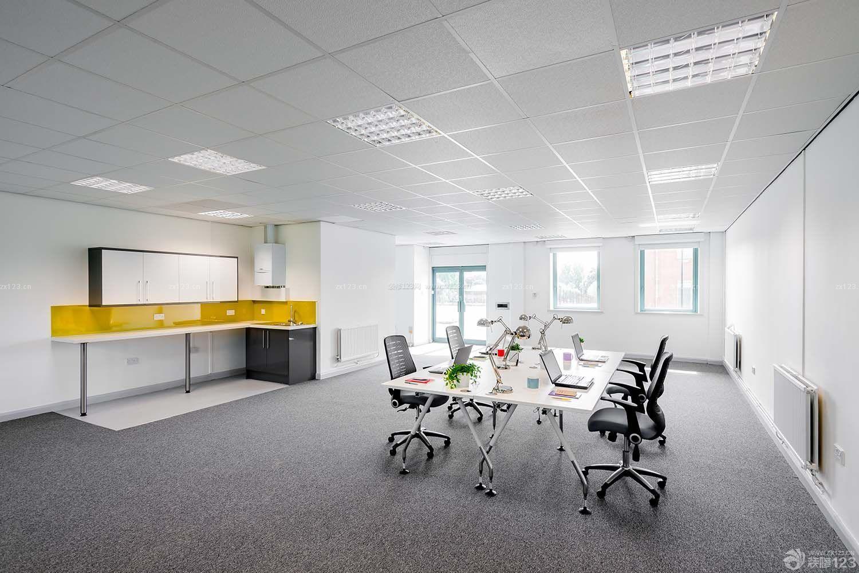 简约办公室室内集成吊顶装修效果图片
