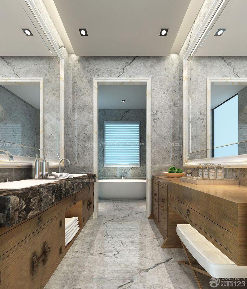 卫浴店面门头设计装修效果图片