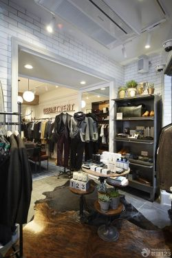 男士服裝店背景墻裝修效果圖