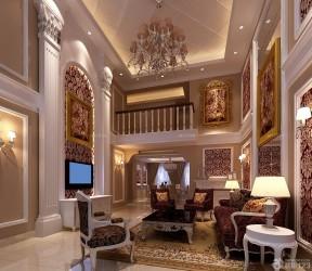 挑高客廳裝修效果圖 復式家裝設計