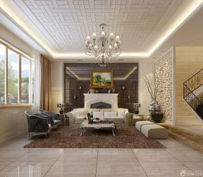室內客廳吊頂效果圖 現代簡約裝修風格
