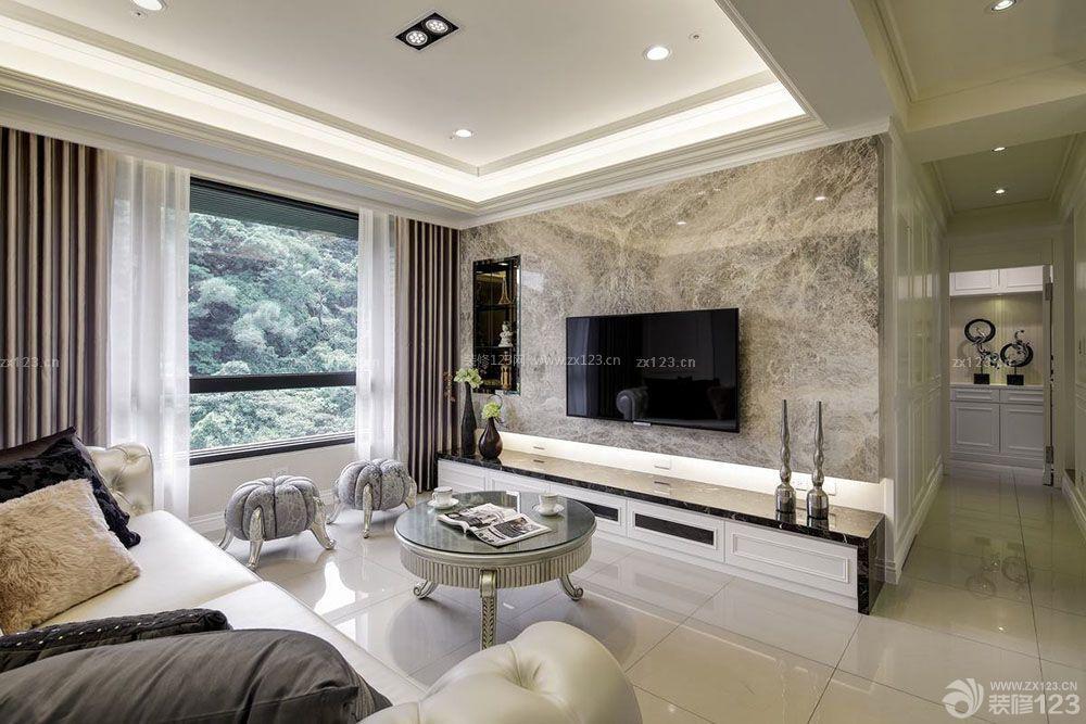 微晶石瓷砖电视背景墙设计效果图