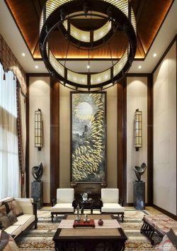 東南亞風格客廳沙發背景墻圖片