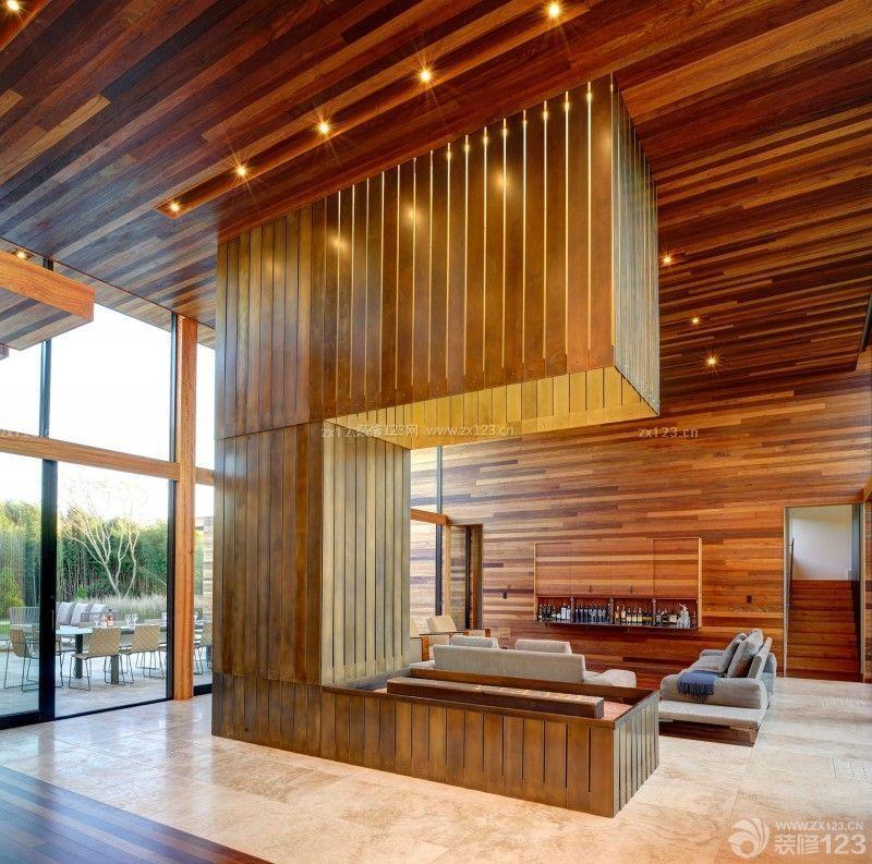 120平米木屋复式楼客厅装修设计图