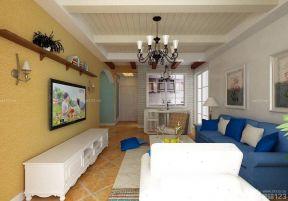 客廳天花板吊頂 地中海風格裝修壁紙