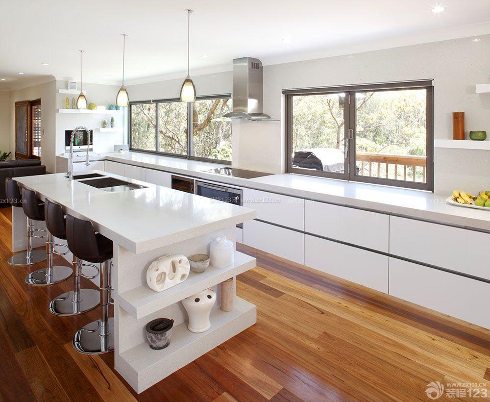 120平米现代复式厨房装修设计图