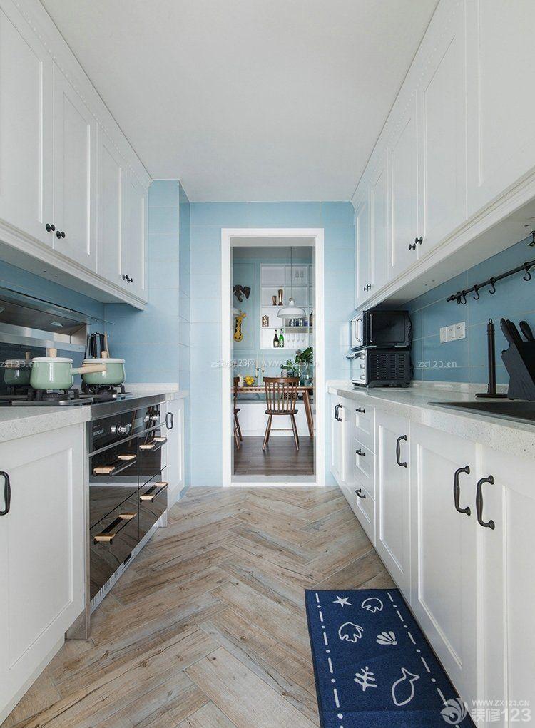 北欧风格厨房地面瓷砖效果图图片