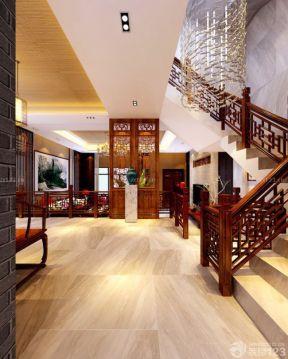 中式別墅設計 樓梯間效果圖