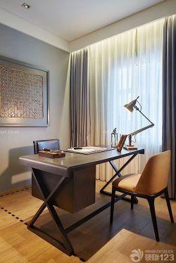 簡約現代風格書房書桌設計裝修效果圖