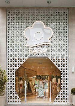 韩国服装店面门头设计效果图片_装修123效果图