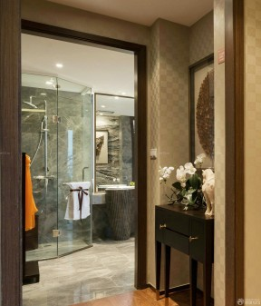 衛生間裝飾圖片 玻璃門裝修效果圖片