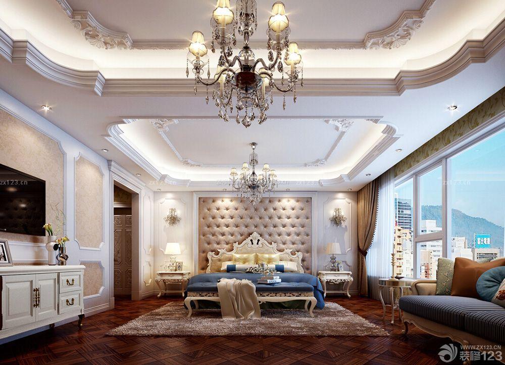 欧式卧室吊顶装修效果图图片