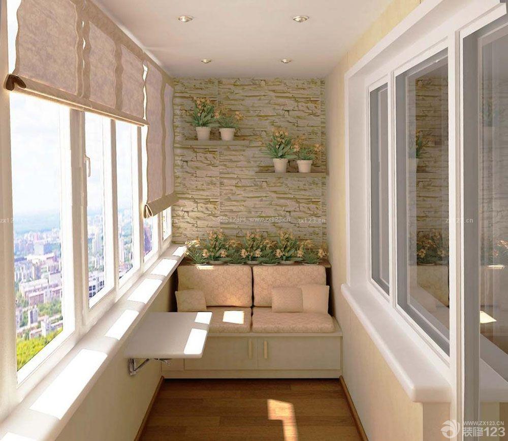 简约风格客厅阳台榻榻米装修效果图