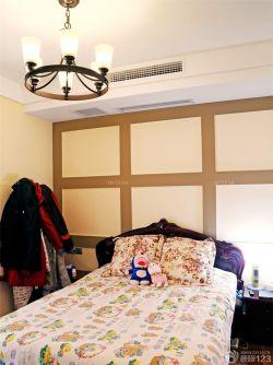 簡約臥室設計美式燈具裝修圖片