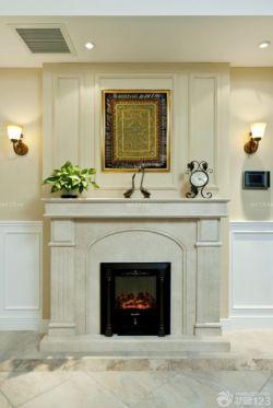 美式室内设计壁炉装修效果图片