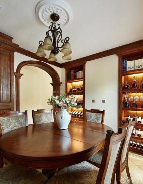 美式實木餐桌 折疊餐桌圖片