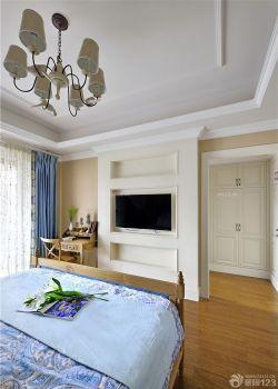 美式臥室美式燈具裝修圖片