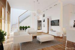 復式樓家居簡約客廳布置設計