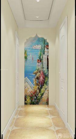 125平米户型家庭玄关过道端景装饰画设计图_装修123