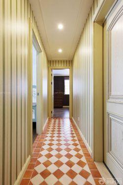 美式室内设计过道拼花地砖装修效果图片图片