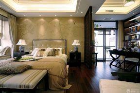 中式臥室背景墻 現代風格裝修