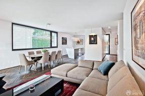 簡約客廳布置 90平米復式房裝修圖