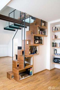 小户型创意装修木楼梯实景图效果图片