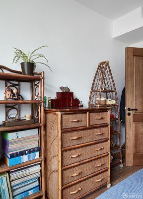 實木家具臥室家具 現代混搭風格