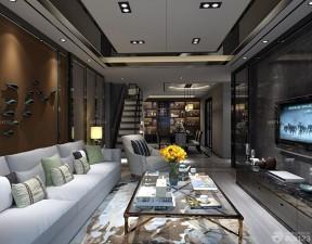復式樓裝修設計圖 客廳設計