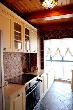 地中海风格厨房生态木吊顶效果图