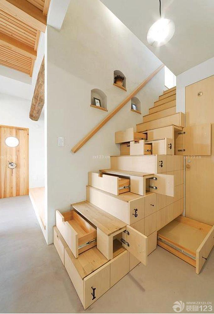 家装效果图 楼梯 创意家居木楼梯装修设计效果图片 提供者:   ←