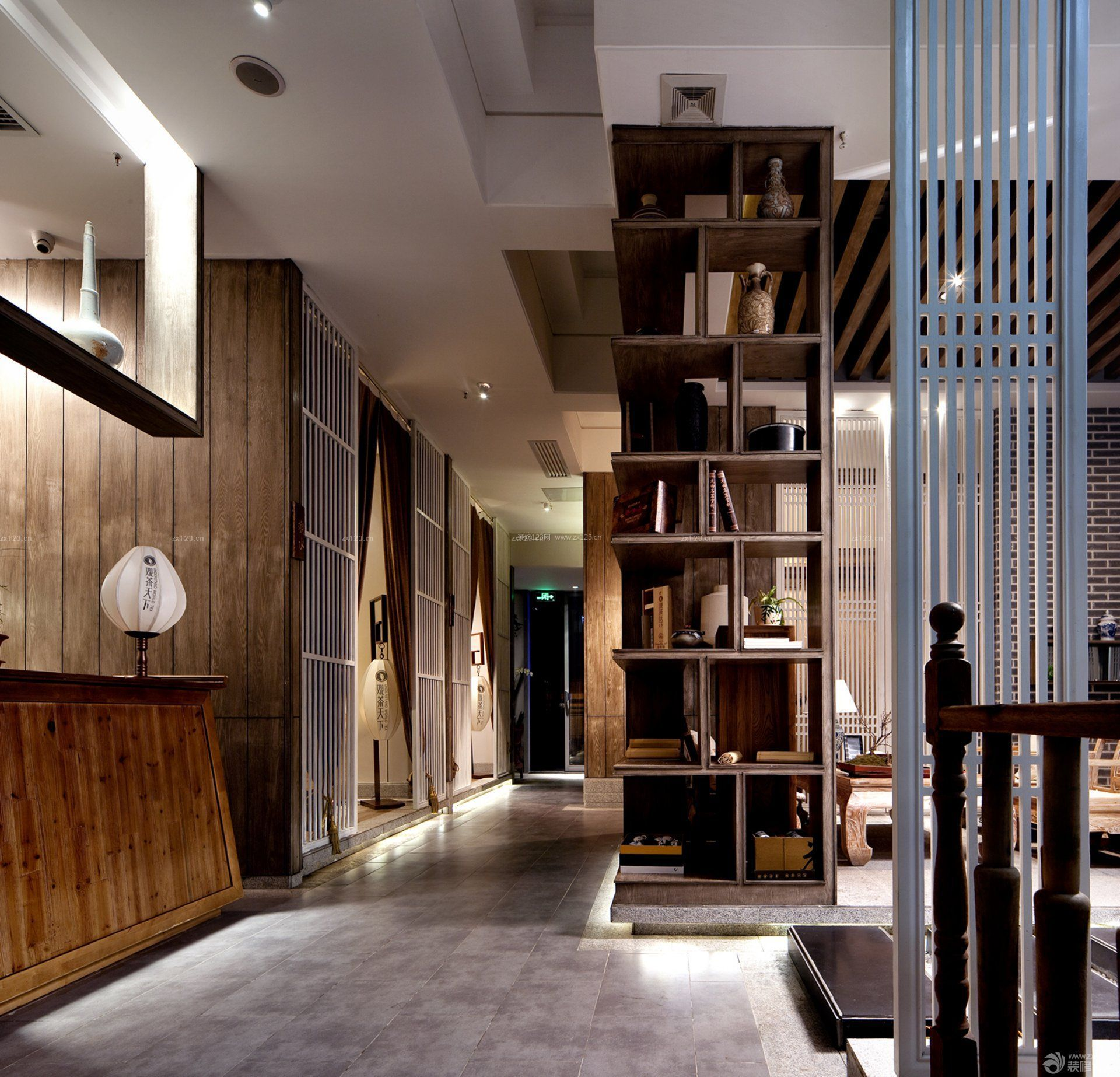 中式茶楼室内设计与装修效果图片图片