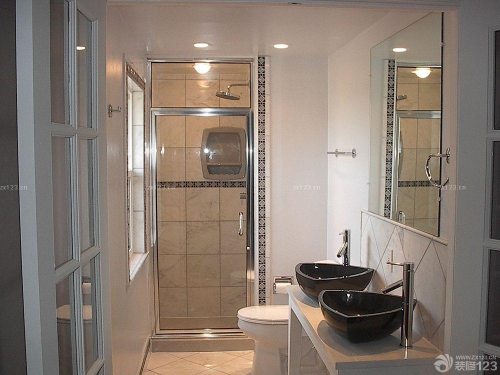 小卫生间浴室隔断墙实景图