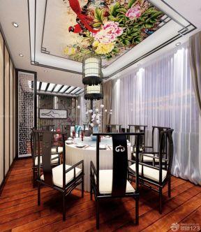中式饭店包厢装修效果图 天花板图片