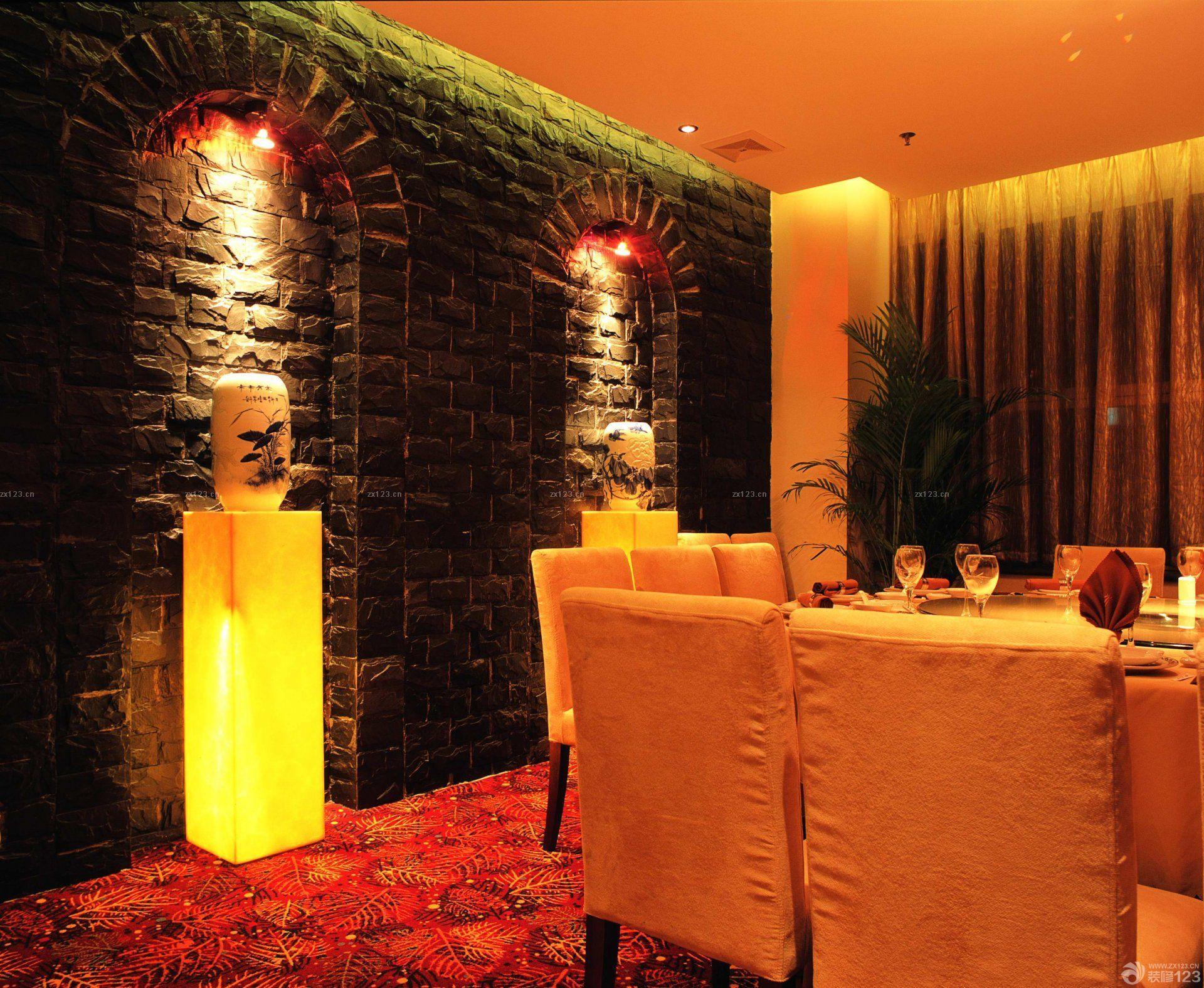 新中式饭店包间装修效果图片