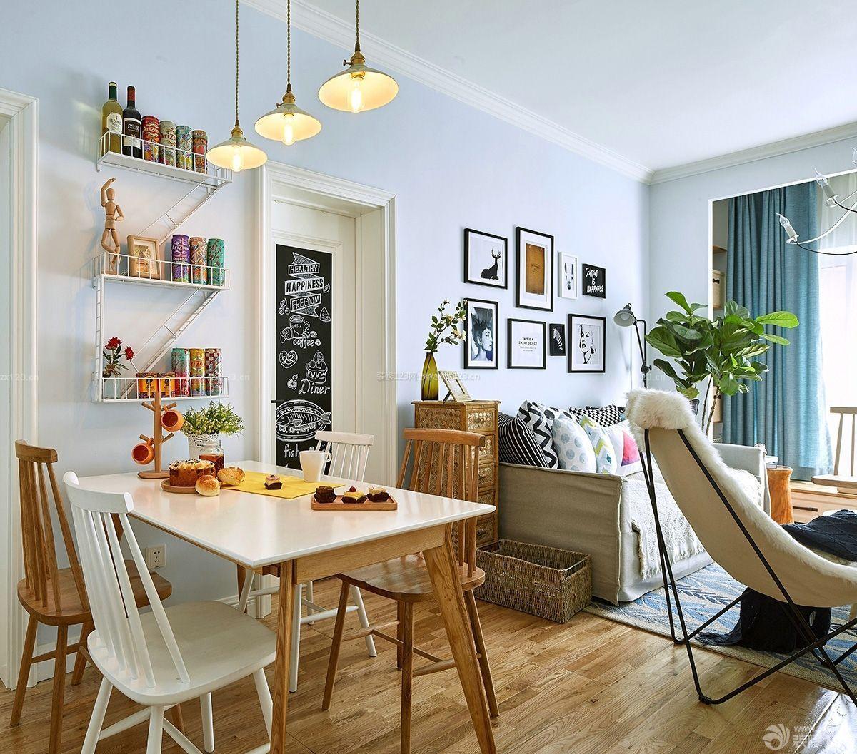 家装效果图 北欧 82平方房子北欧风格餐厅装修效果图 提供者: ←