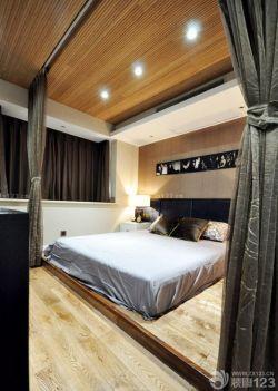 最新简约现代家装卧室木质吊顶装修效果图片