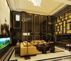 新中式風格客廳博古架裝修圖片