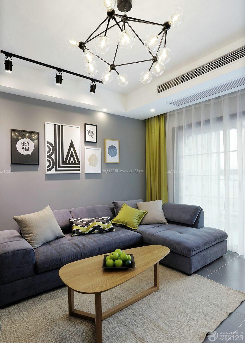北欧客厅沙发风格公司墙装饰画装修设计_装修室内设计背景顶尖全国图片