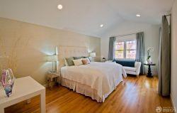 現代簡單美式臥室風格效果圖