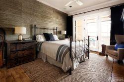 簡約現代美式臥室風格效果圖
