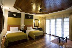 現代簡約美式臥室風格效果圖