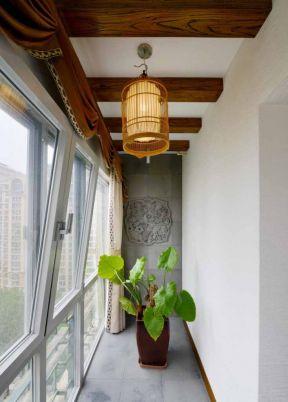 家庭中式 阳台吊顶装修效果图