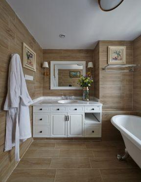 浴室柜效果图 美式卫生间装修效果图