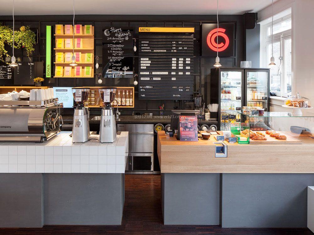 欧式咖啡店前台设计效果图图片