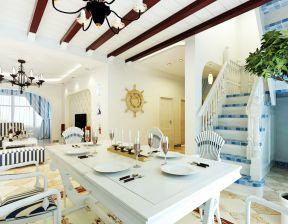 地中海餐廳吊頂 地中海別墅風格
