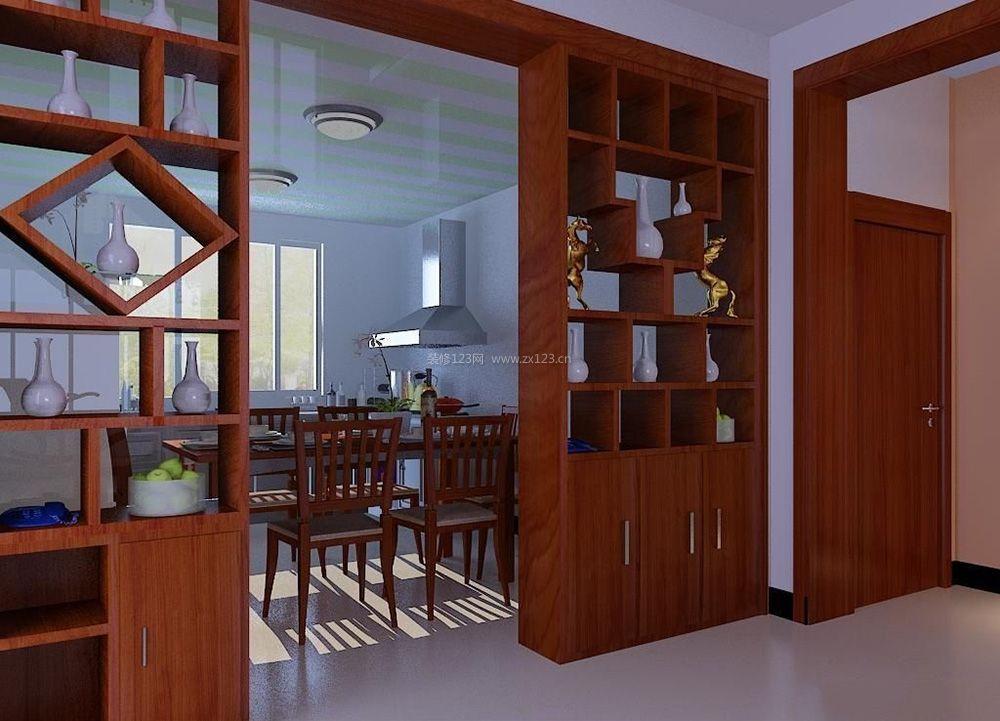 100平米房屋客厅和餐厅中式隔断装修效果图图片