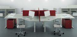 小型辦公室隔斷式辦公桌裝修圖片大全