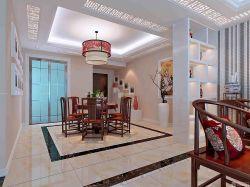 客厅和餐厅中式酒柜隔断效果图