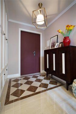 美式风格家装设计进门玄关效果图